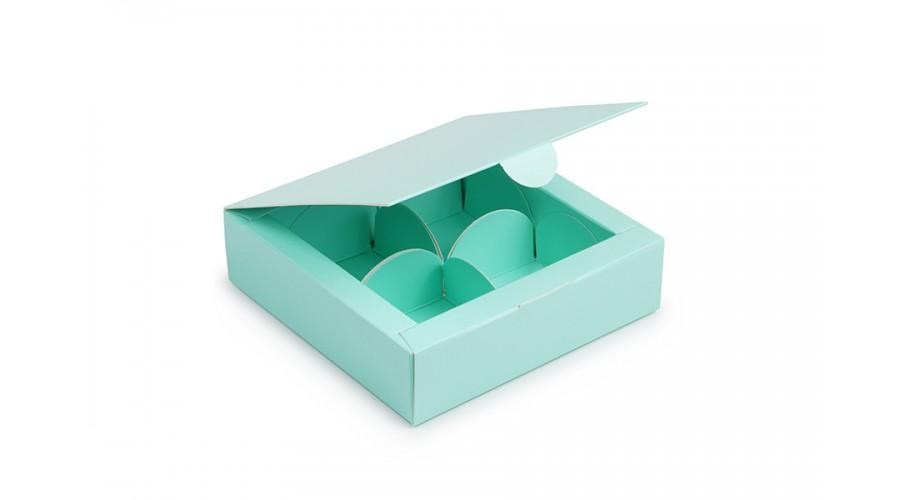 Коробка під 4 цукерки,  (112х112х30)   тіффані