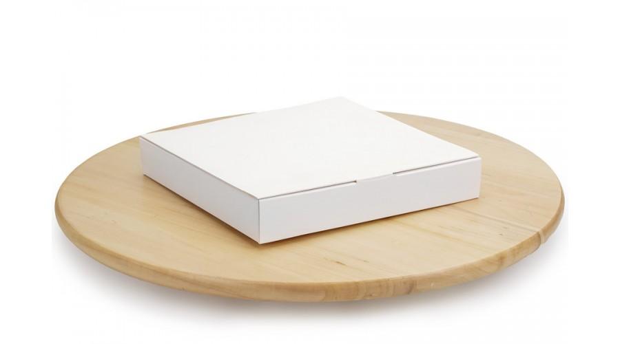 Коробка під цукерки, 16, 185*185*30, без вікна,  біла (50 штук)