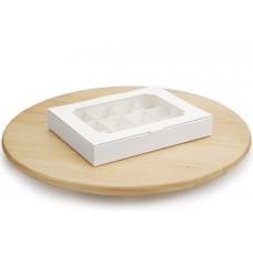 Коробка на 12 цукерок, білого кольору, 200х156х30 мм