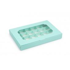 Коробка на 24 цукерки, тіфані, 270х185х30 мм