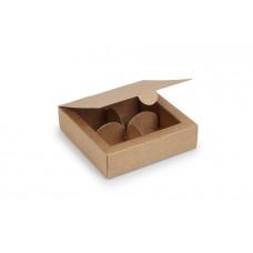 Коробка на 4 цукерки, крафтового, 112х112х30 мм