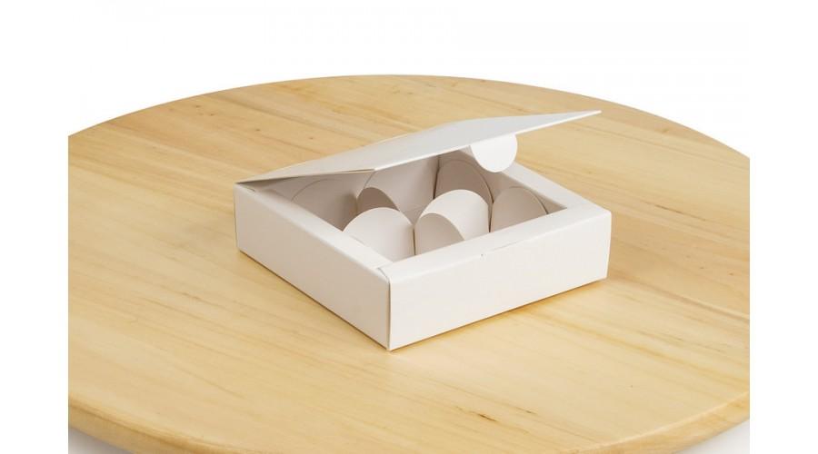 Коробка під цукерки, 4  (112х112х30)  біла