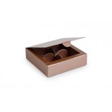 Коробка під цукерки, 4  (112х112х30)  металік