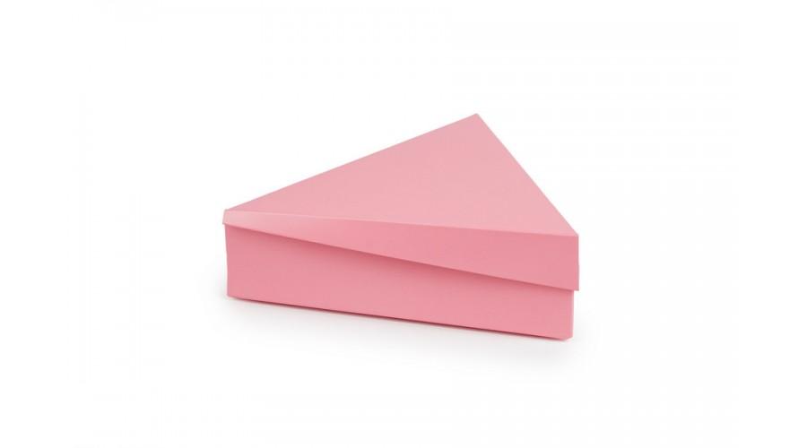 Трикутна коробка для 6 цукерок, рожева