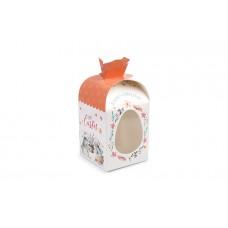 """Коробка для паски """"Заєць бежевий"""" 110х110х140 мм"""
