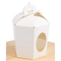 Пасхальна упаковка, біла, 6 граней, 145х165х160 мм