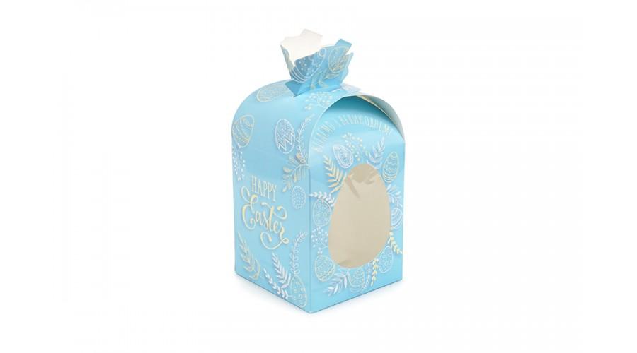 Блакитна коробка для паски, 110х110х140 (купол)