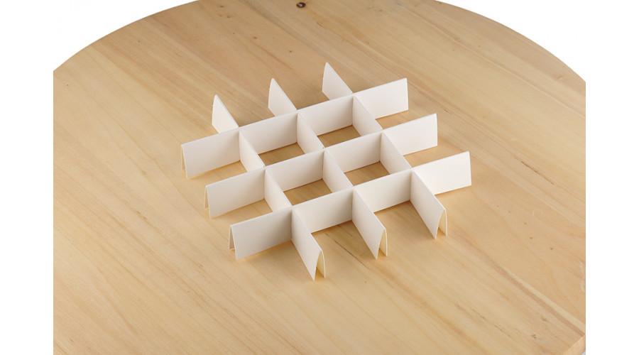 Комплект ложементів для коробки (на 16 комірок, білий)