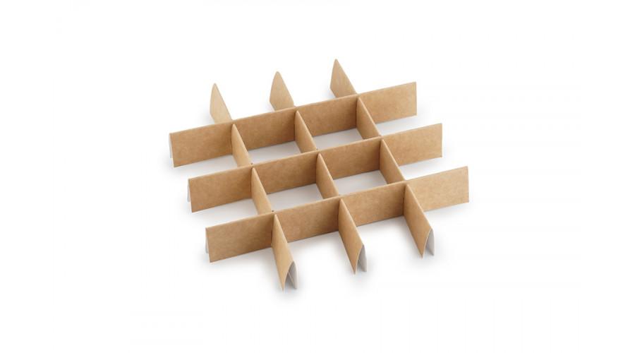 Комплект ложементів для коробки (на 16 комірок, крафт)