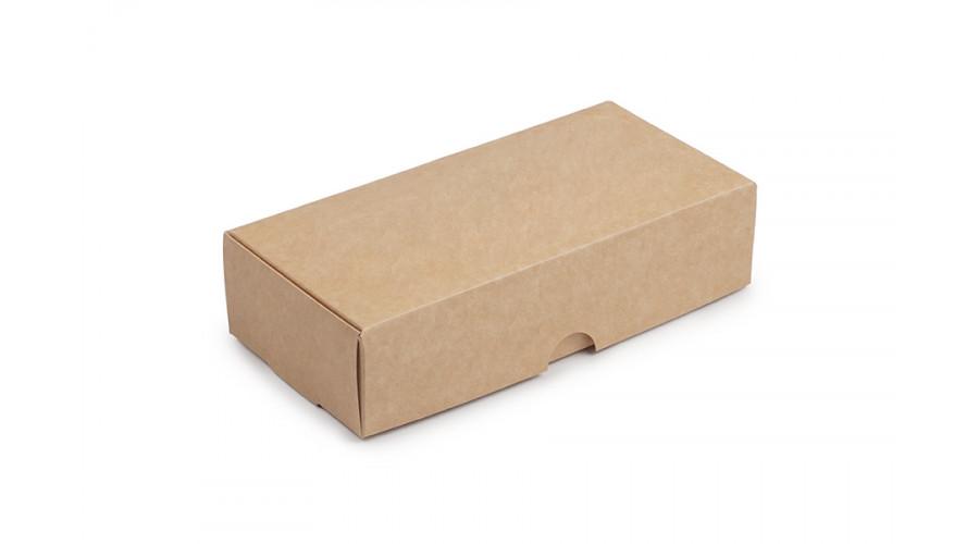 Коробка для десертів і макарон, крафт, 200х100х50 мм