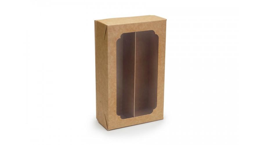 Коробка для макарун, крафт, 200х120х60 мм