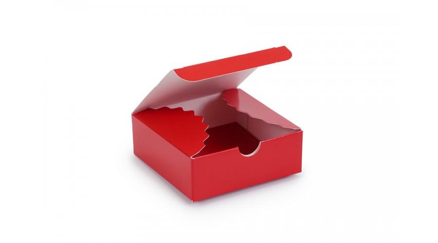 Коробка для цукерок, 4, 83х83х30 (міні-бокс), червона