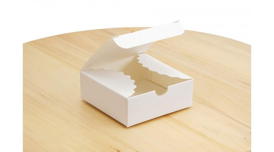 Коробка для мила, 83х83х30 мм(міні-бокс), біла
