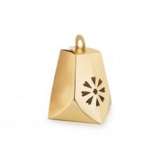 """Коробка для солодощів та цукерок """"Новорічний дзвіночок зі сніжинкою"""", золото"""
