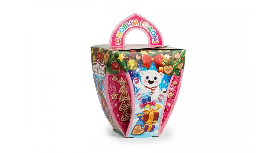 """Коробка для солодощів та цукерок """"Новорічний кошик"""""""
