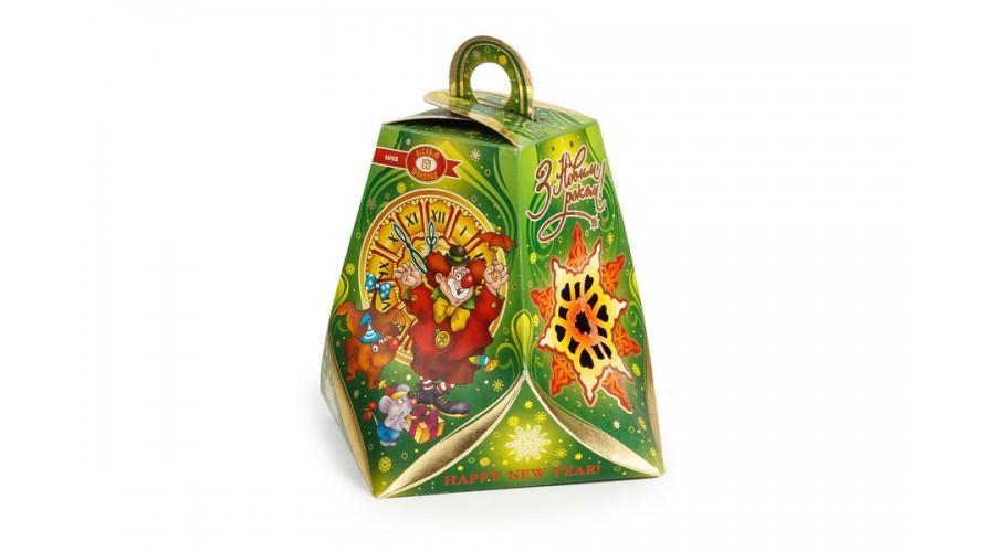 """Коробка для солодощів і цукерок """"Новорічний дзвіночок"""", зелена"""