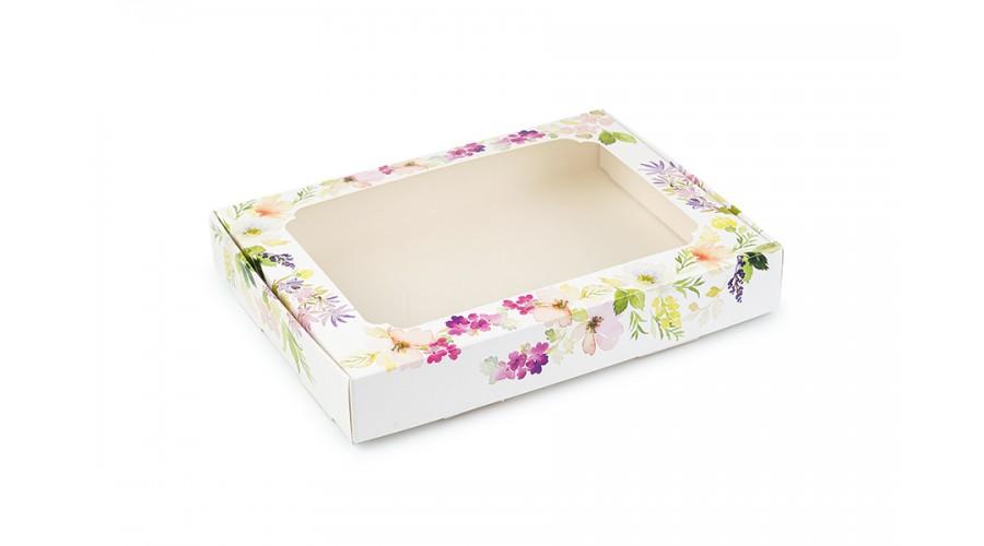 """Коробка для пряників, з принтом """"Квіти"""", 150х200х30 мм"""
