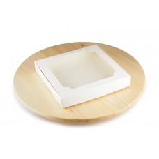Коробка для пряників, білого кольору, 195х200х30 мм