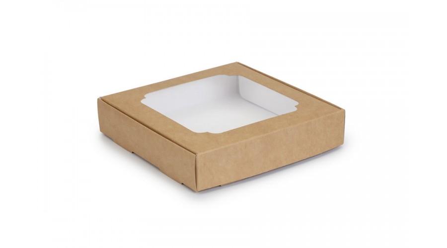 Коробка для пряників, крафтового кольору, 150х150х30 мм