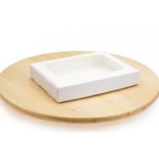 Коробка для пряників, білого кольору, 150х200х30 мм