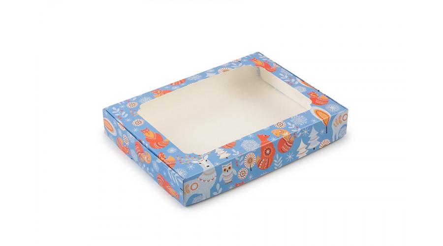 """Коробка для пряників, з принтом """"Сова"""", 150х200х30 мм (50 штук)"""