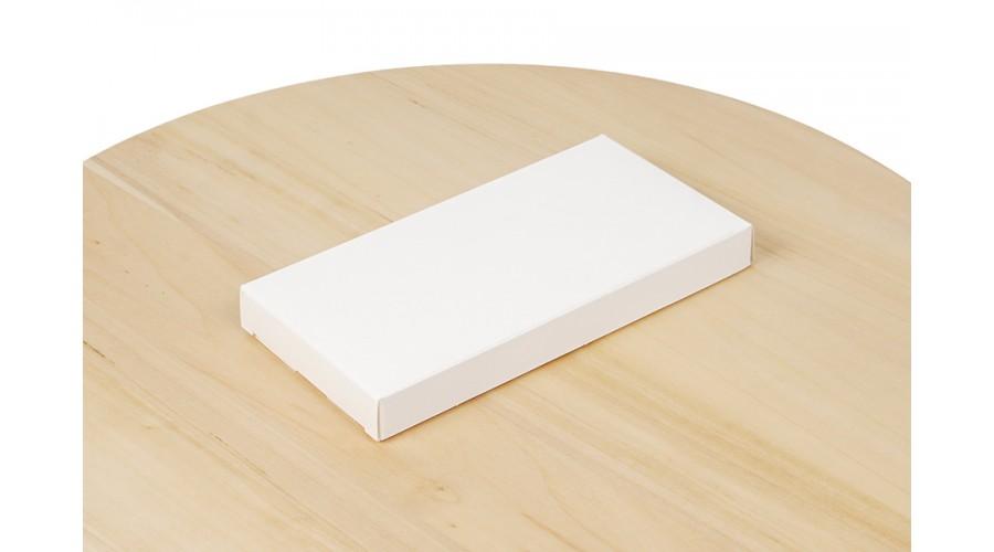 Коробка для шоколаду, біла, без віконця 160х80х17