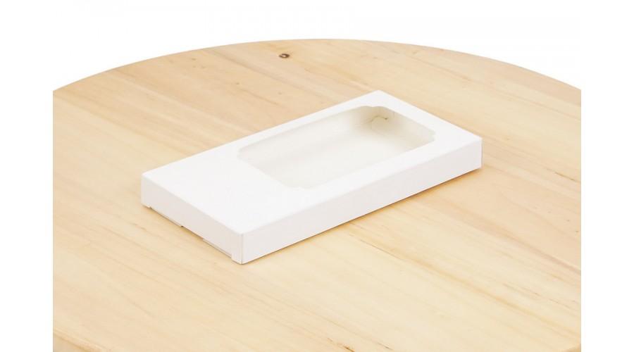 Коробка для шоколаду, біла, 155х75х11 мм