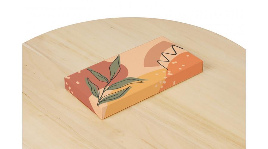 """Коробка для шоколаду, """"Листок"""", 160х80х17 мм"""
