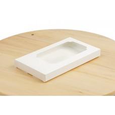 Коробка для шоколаду, біла, 183х103х18 мм