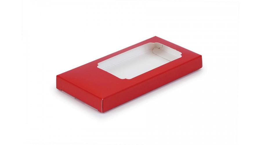 Коробка для шоколаду, червона, 160х80х17