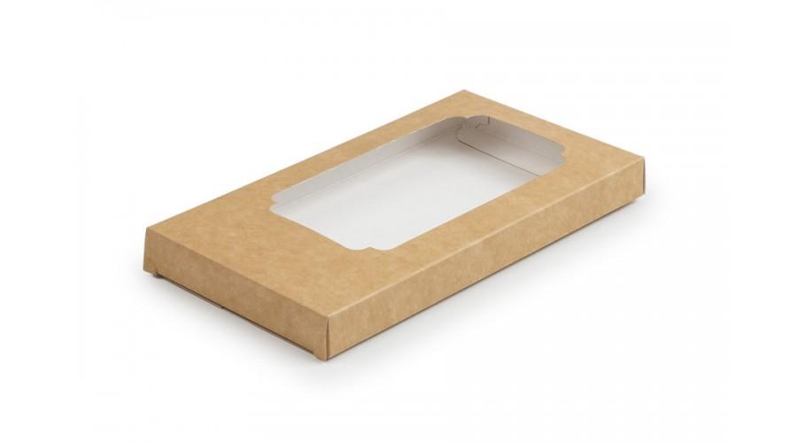 Коробка для шоколаду, крафт, 155х75х11