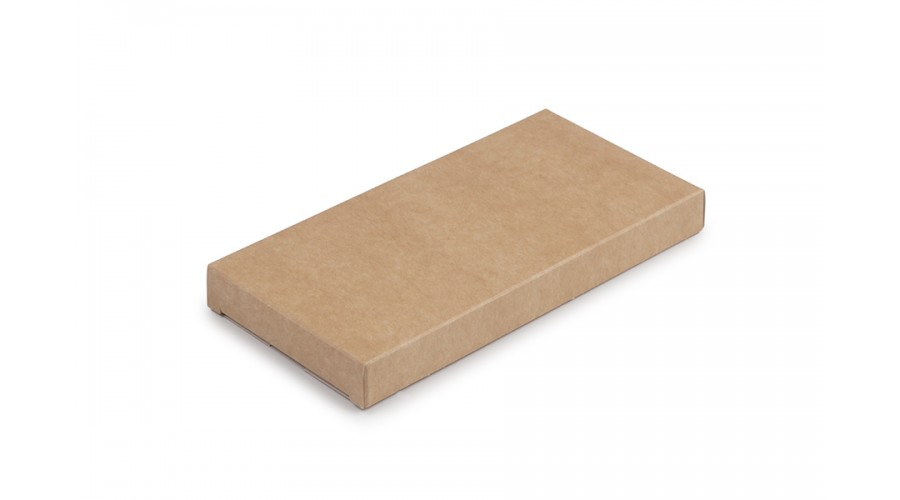 Коробка для шоколаду, крафт, без віконця, 160х80х17